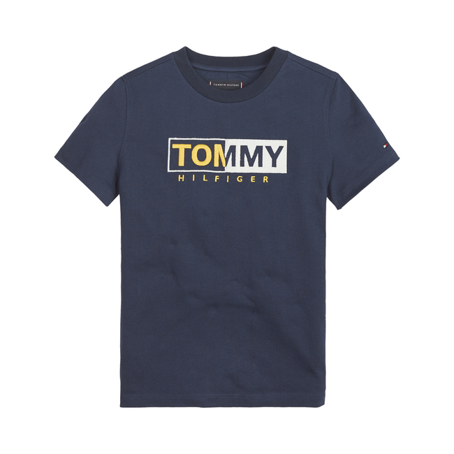 Tommy Hilfiger Essential Graphic t-shirt mørkeblå