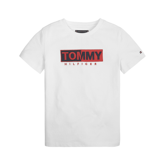 Tommy Hilfiger Essential Graphic t-shirt hvid