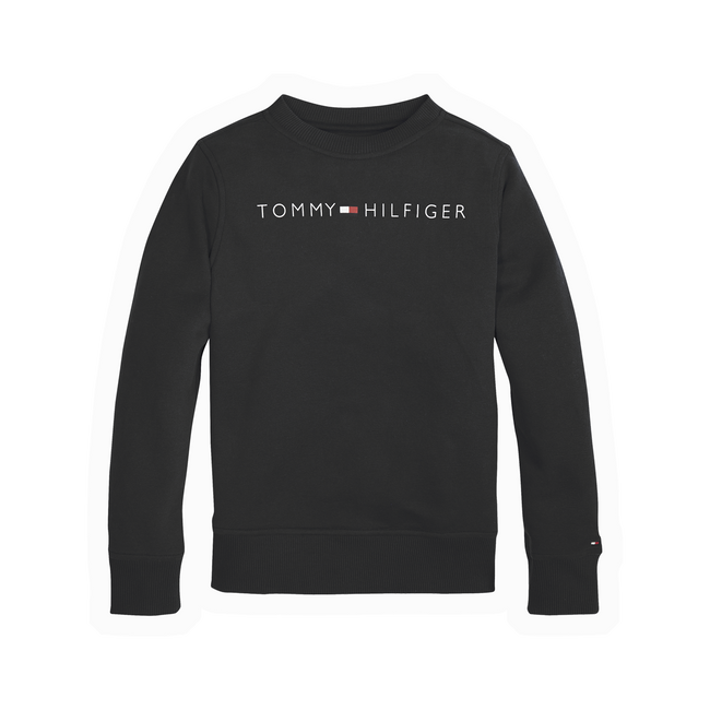 Tommy Hilfiger Essential logo sweatshirt sort