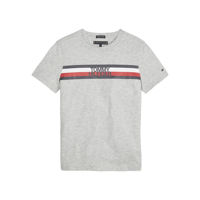 Tommy Hilfiger Global stribe t-shirt grå