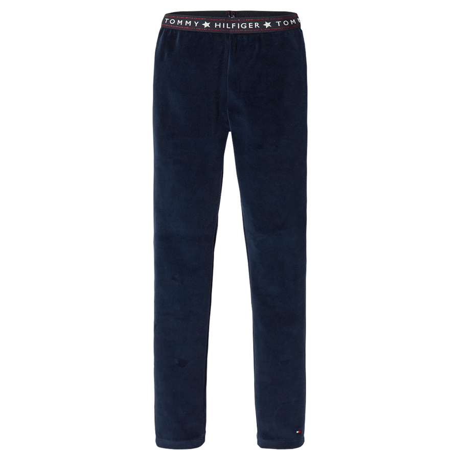 Tommy Hilfiger velour leggings mørkeblå