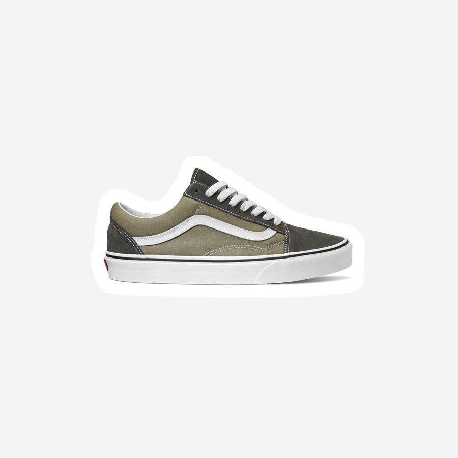 Vans Old Skool sko armygrøn/sort