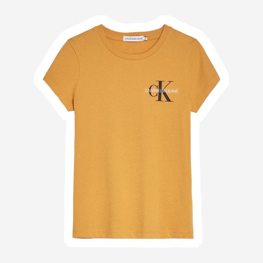 Calvin Klein Chest Monogram t-shirt pige gul