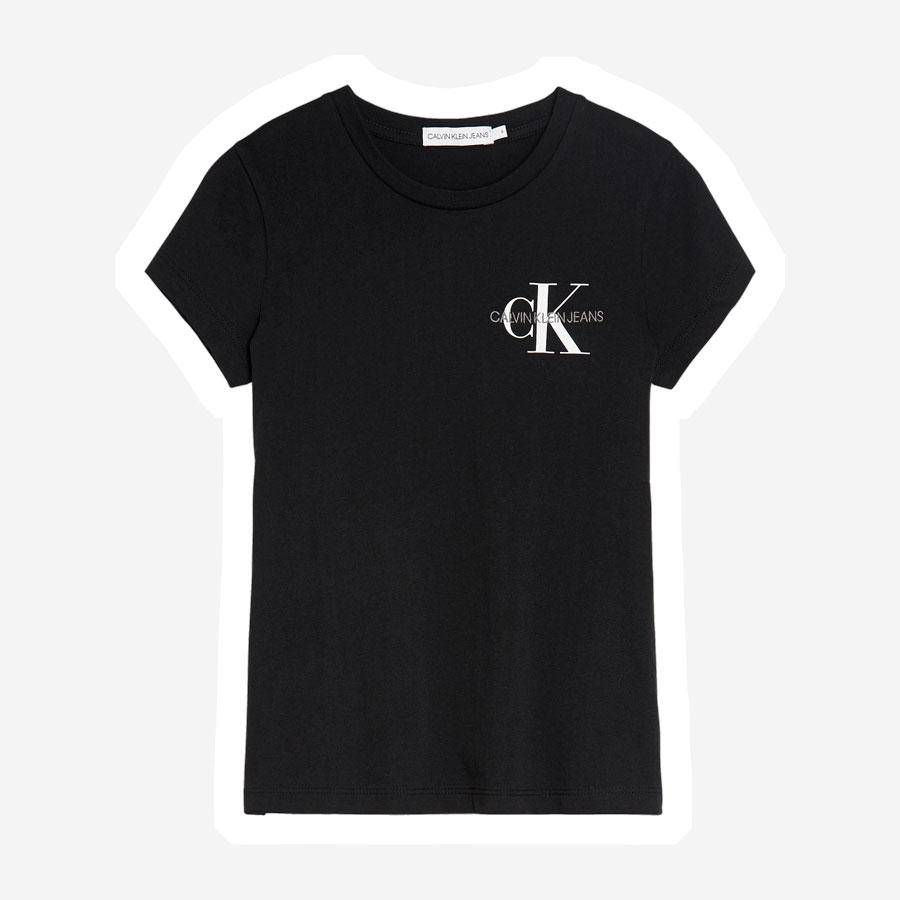 Calvin Klein Chest Monogram t-shirt pige sort