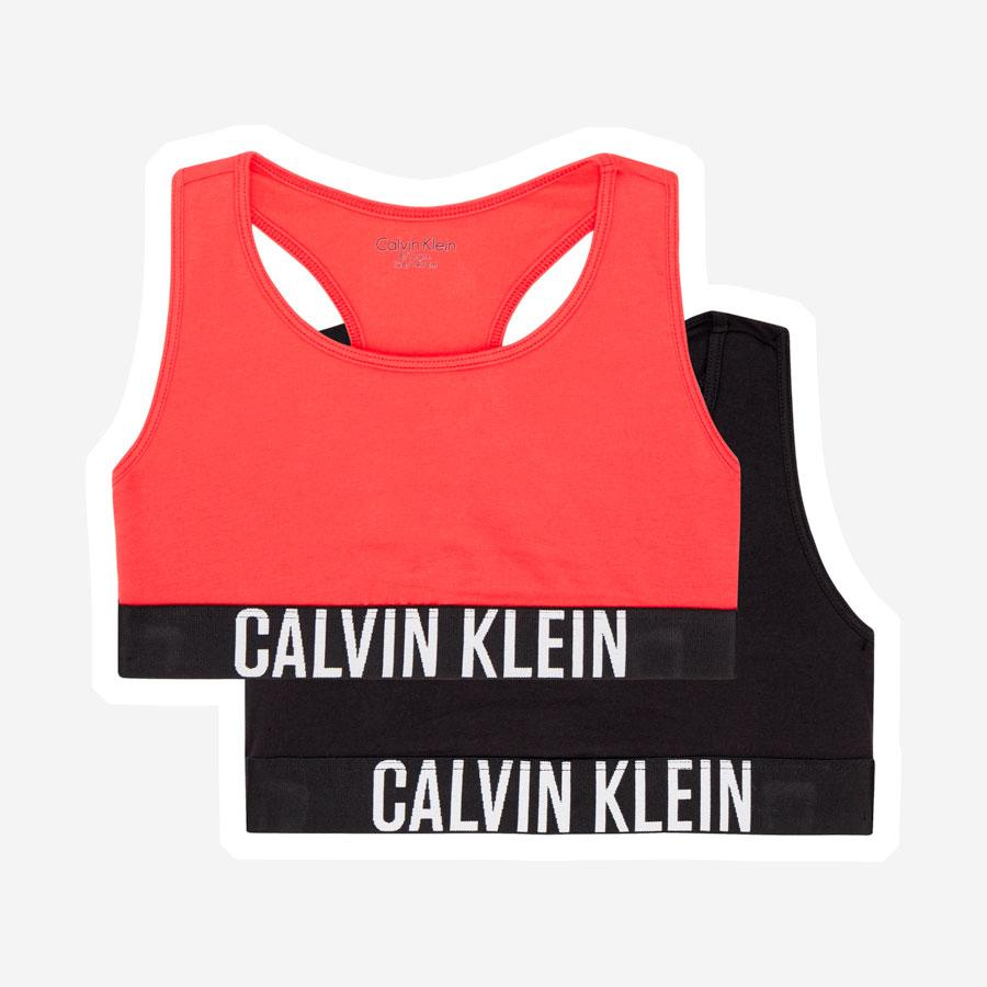 Calvin Klein Intense Power Bralette 2 pk toppe rød sort
