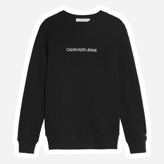 Calvin Klein Metallic mini logo sweatshirt sort