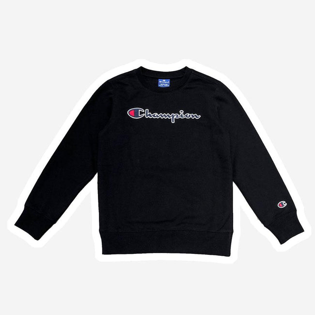 Champion logo sweatshirt sort