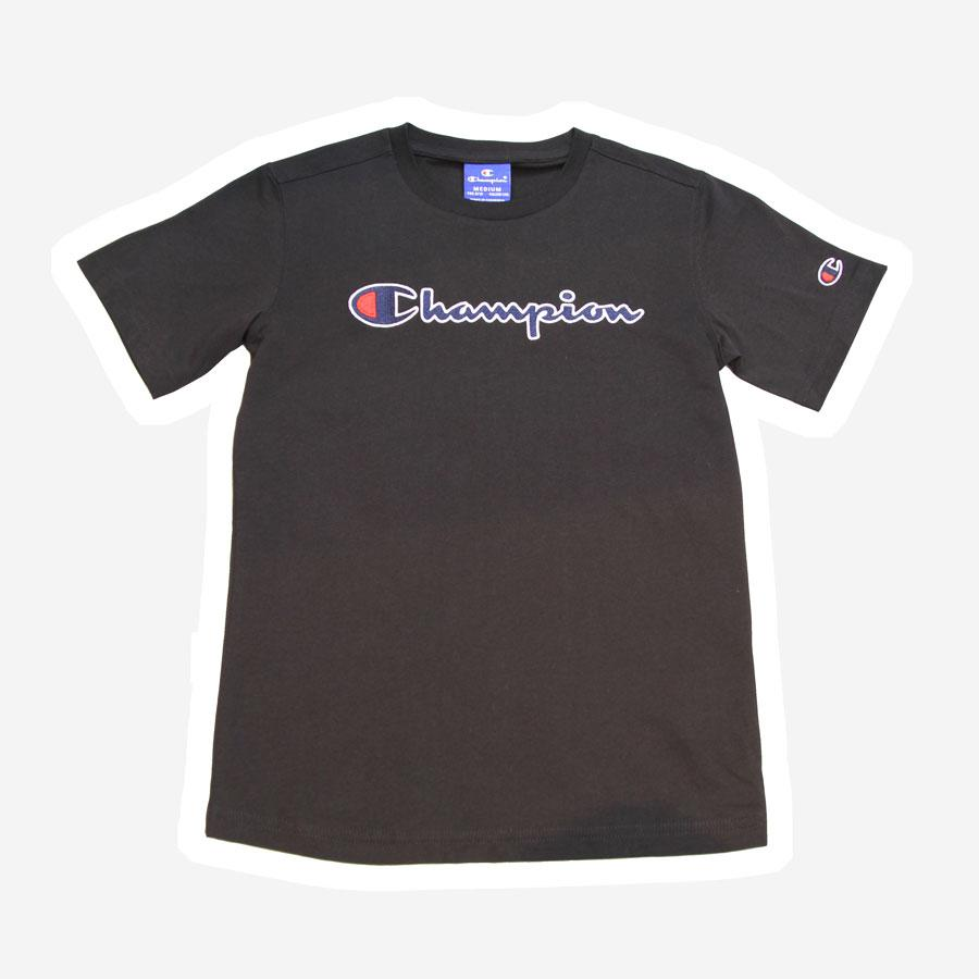 Champion logo t-shirt sort