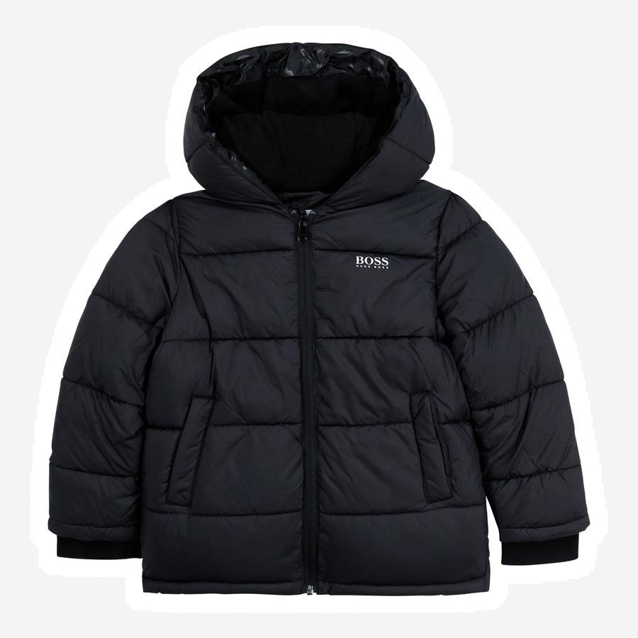 Hugo Boss Puffer jakke m. logo sort