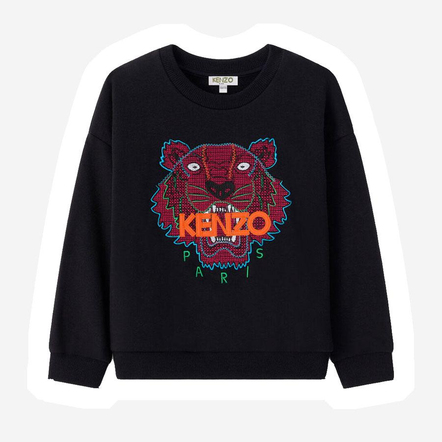 Kenzo Tiger JG 11 sweatshirt sort pink orange