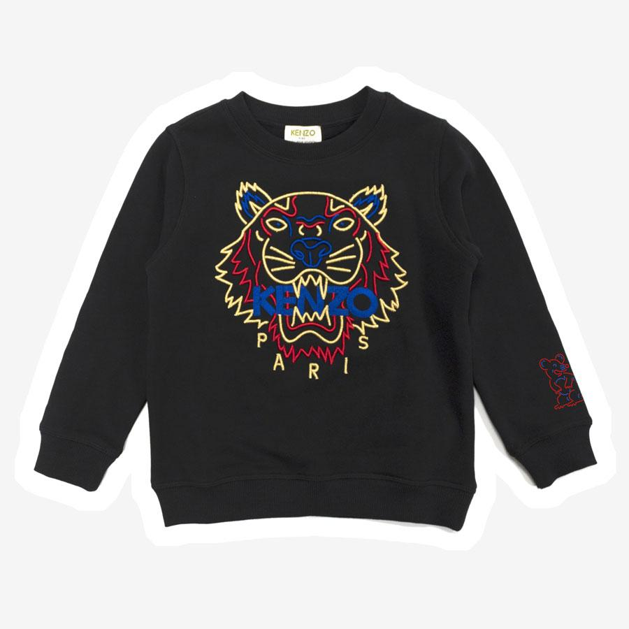 Kenzo New Year 9 Tiger sweatshirt sort gul og blå