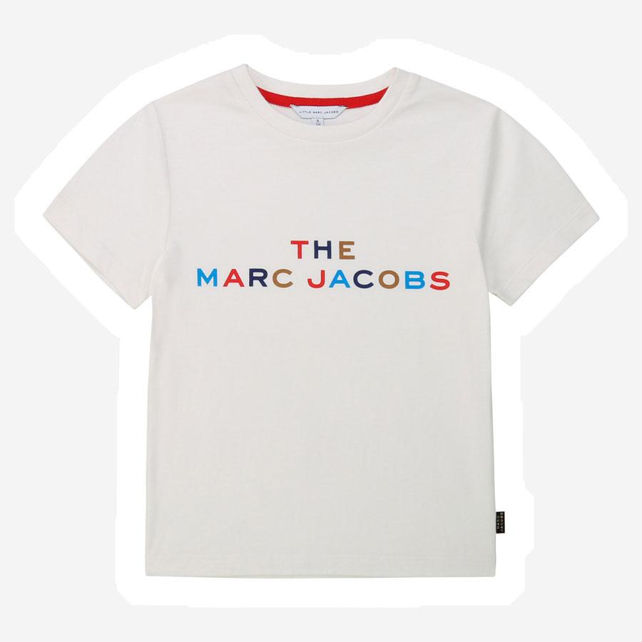 Marc Jacobs multi logo t-shirt hvid multi