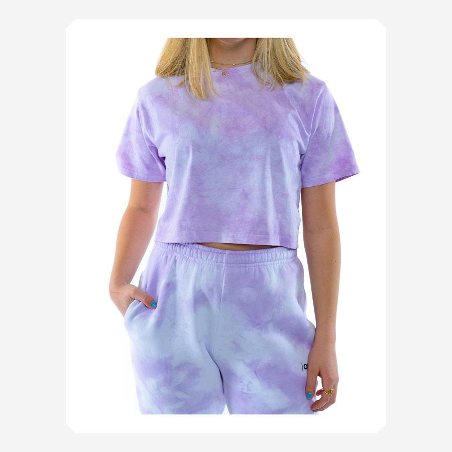 ONME Purple Cloud Cropped t-shirt lilla