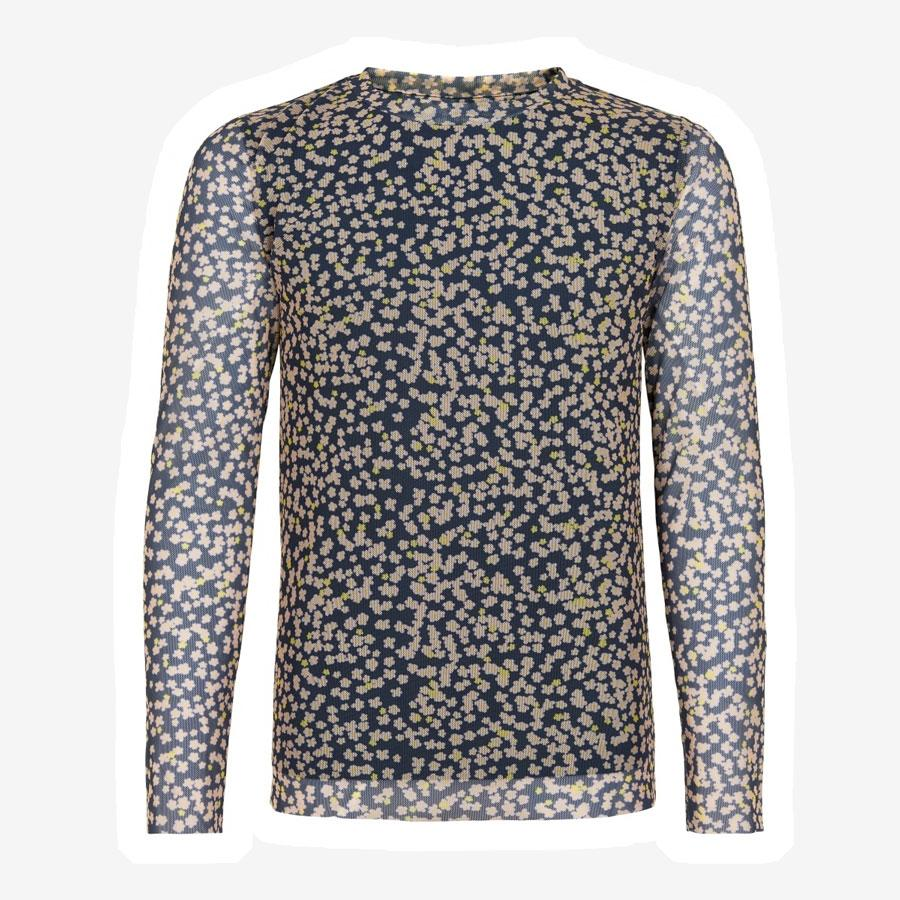 The New Oprah bluse m. blomsterprint mørkeblå lyserød