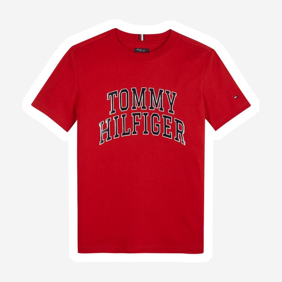 Tommy Hilfiger Collage Logo t-shirt rød