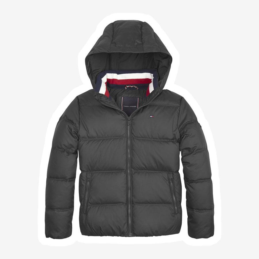 Tommy Hilfiger Essentials down vinterjakke sort