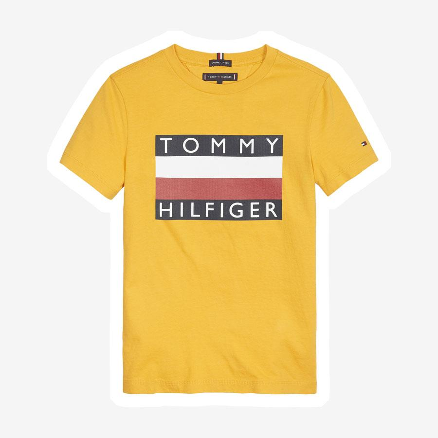 Tommy Hilfiger Essential flag logo t-shirt gul