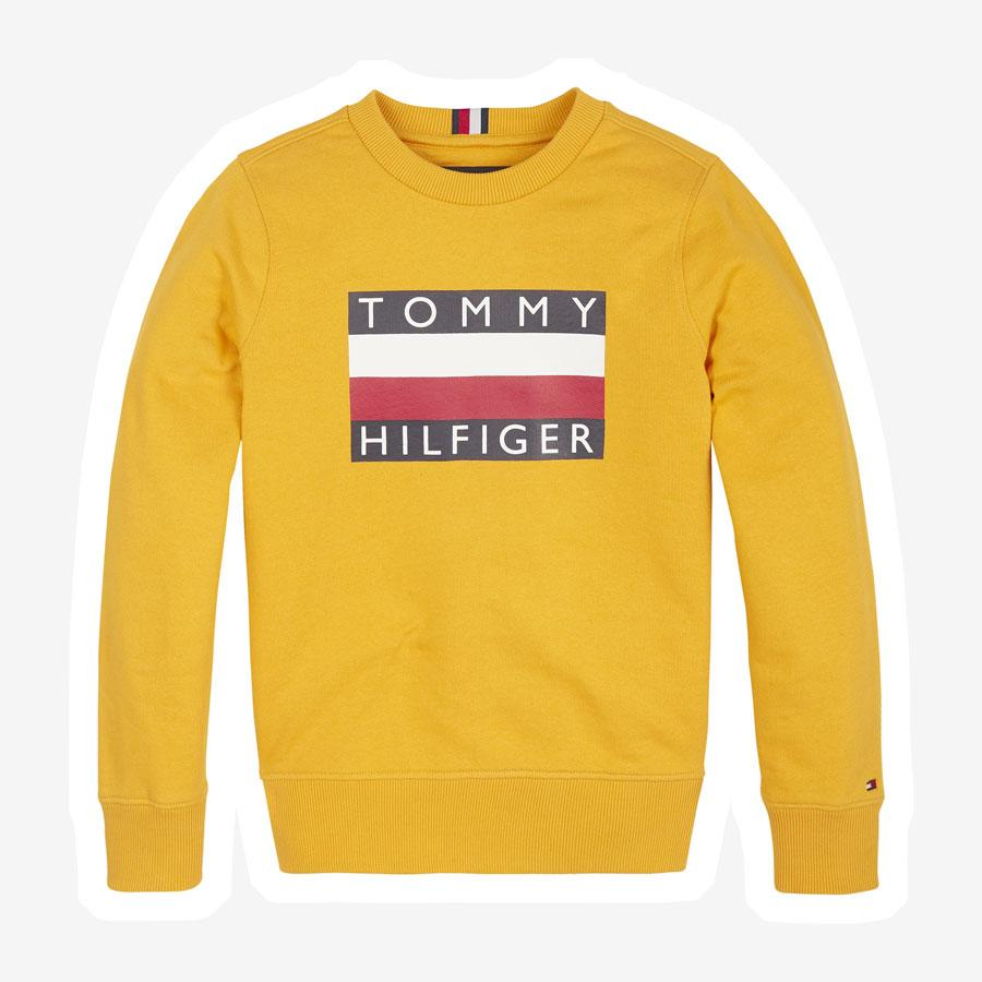Tommy Hilfiger Essential Flag sweatshirt gul