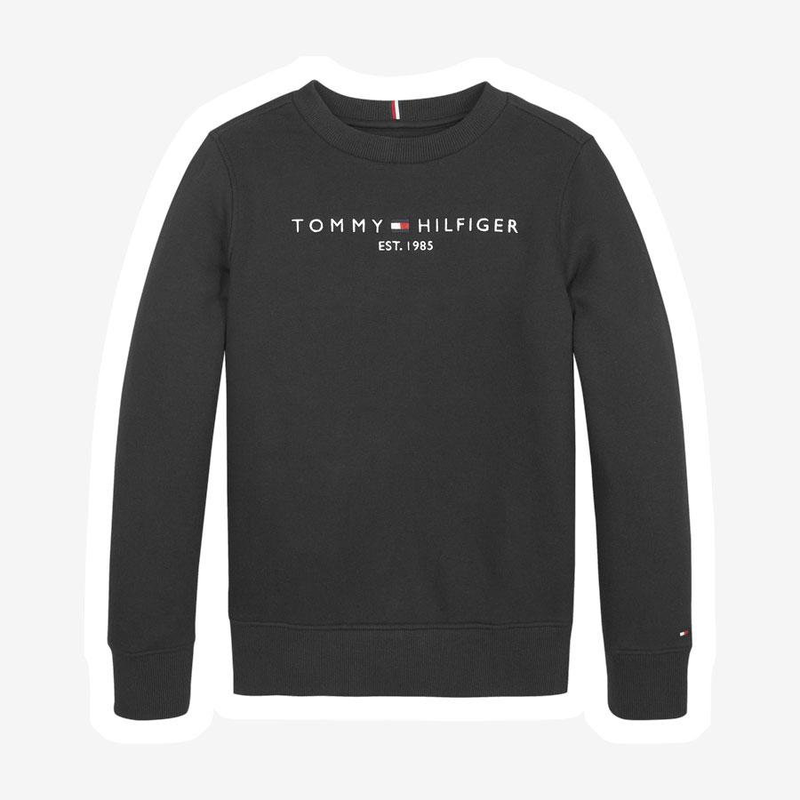 Tommy Hilfiger Essential sweatshirt m. logo sort