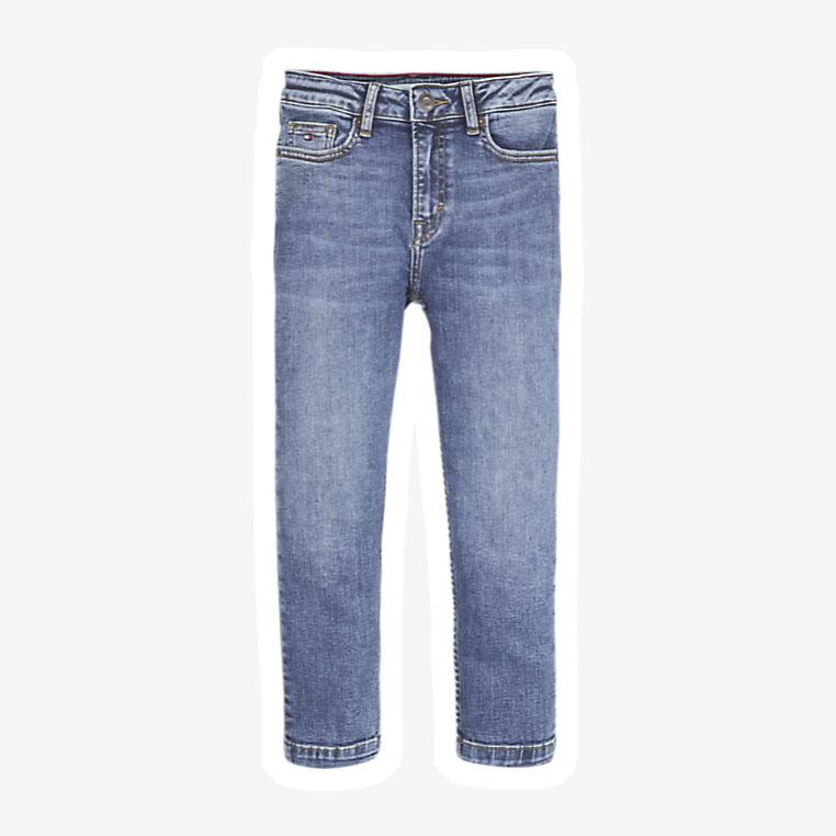 Tommy Hilfiger High Rise Tapered jeans blå