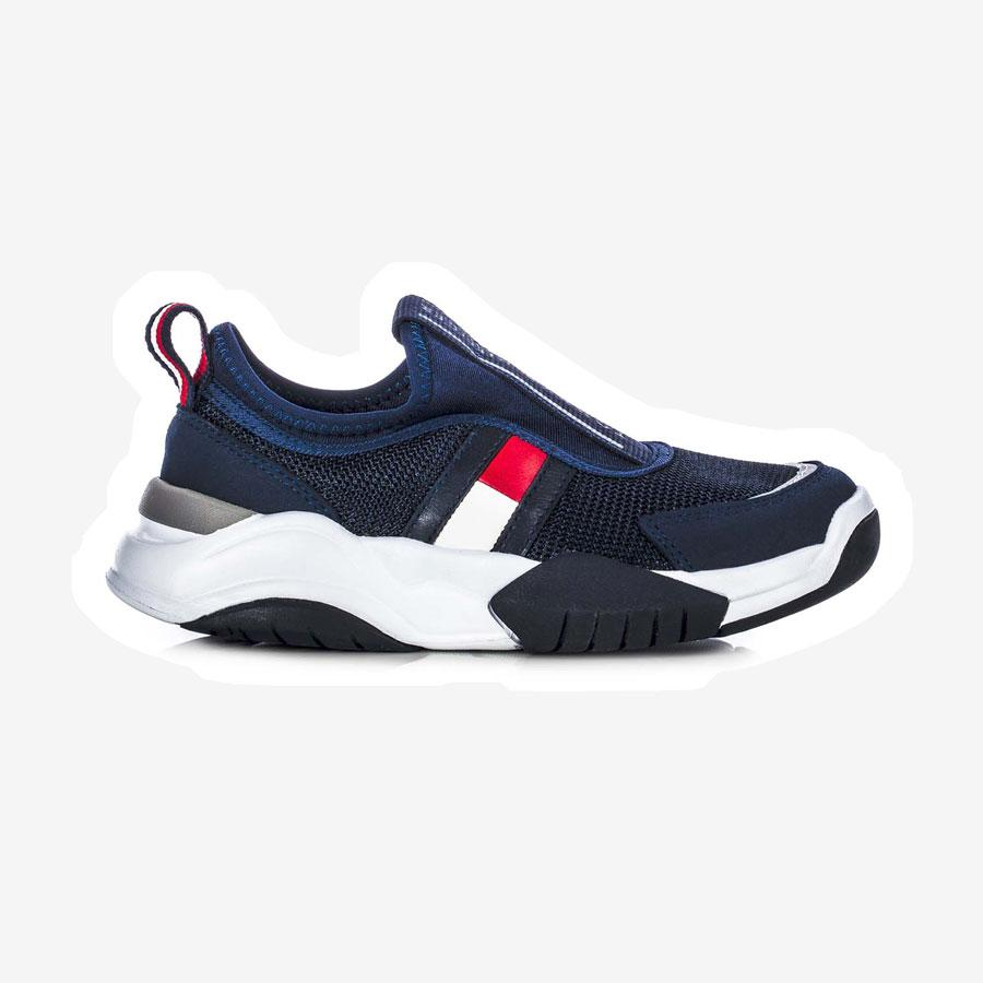 Tommy Hilfiger Low Cut sneakers m. flag mørkeblå hvid