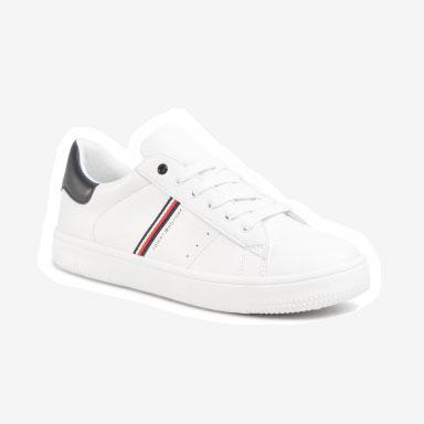 Tommy Hilfiger Low Cut sneakers m. logo hvid