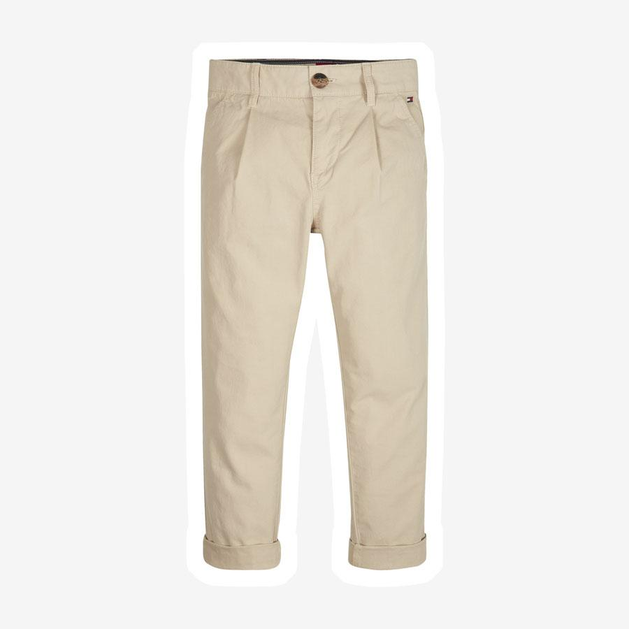 Tommy Hilfiger Recycled wide leg chino bukser sandfarvet