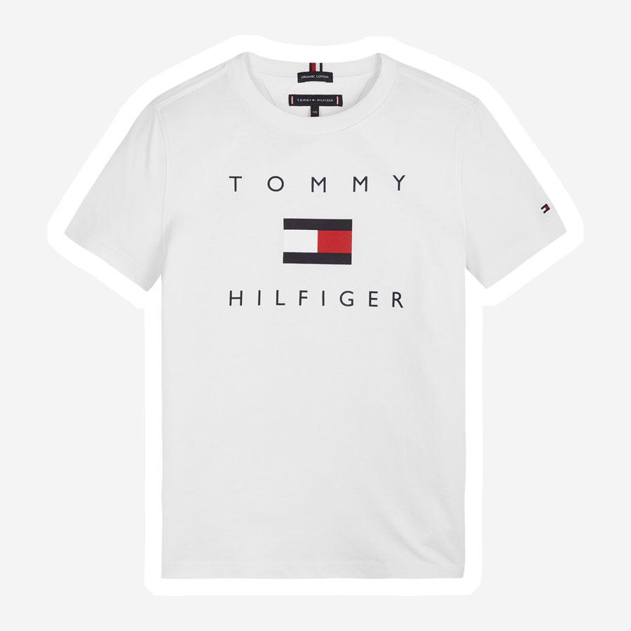 Tommy Hilfiger TH logo t-shirt hvid¨
