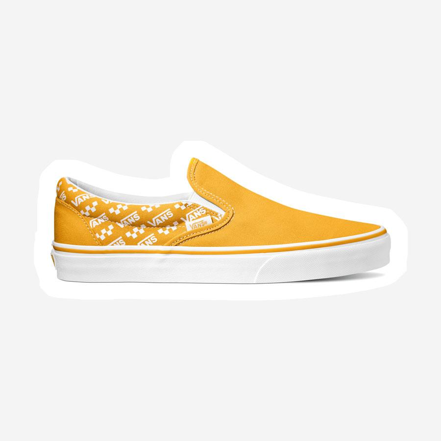 Vans Slip-on Logo Repeat sko gul