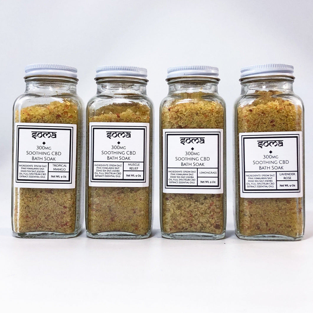 SOMA CBD 300MG FULL SPECTRUM CBD BATH SOAK