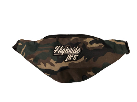 Highside Script Camo Fanny Pack