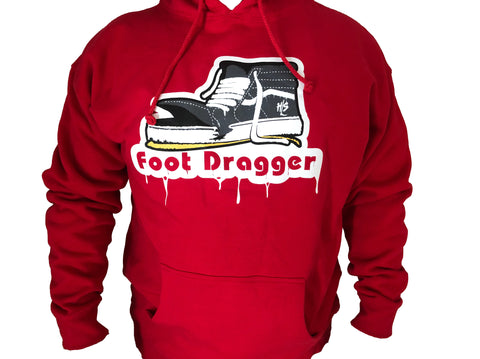 Red Foot Dragger Hoodie
