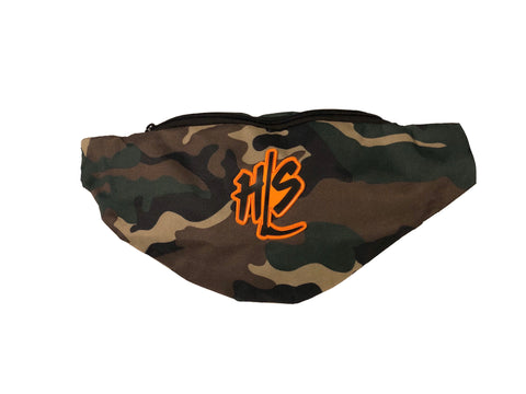 Camo and Orange Fanny Pack