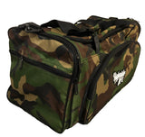 Road Dog Duffle Bag -camo w/ script