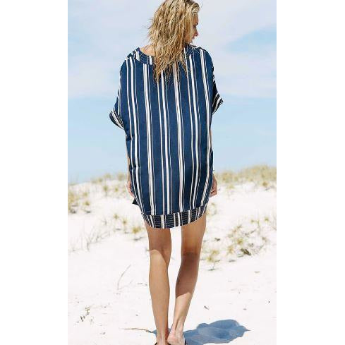 Bandage Tassal Striped Cover Up -Likabee, Women - Women's Swimwear, [Shop_name] - Likabee.com