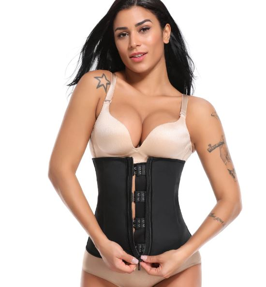 Latex Waist Trainer Zipper Underbust - upto 6xl sizes -Likabee, Women - Women's Swimwear, [Shop_name] - Likabee.com