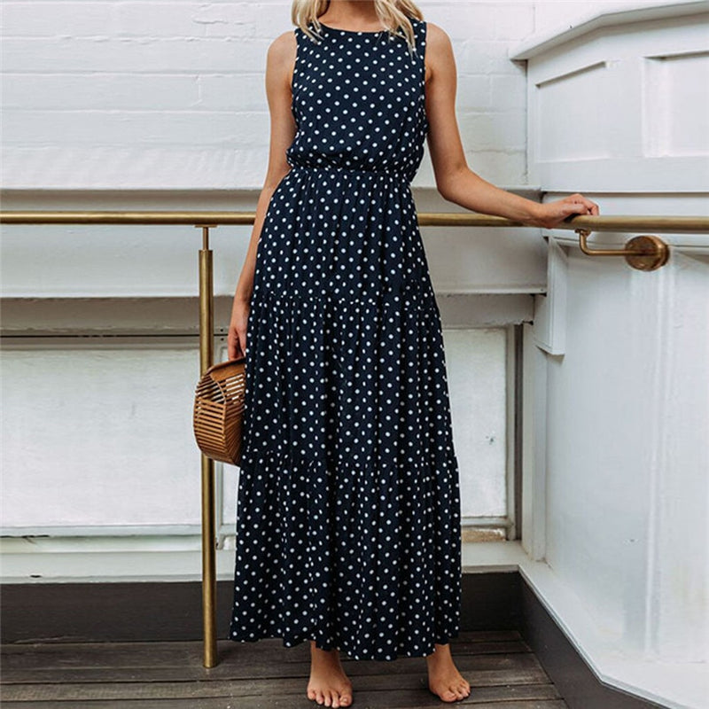 Polka long dress