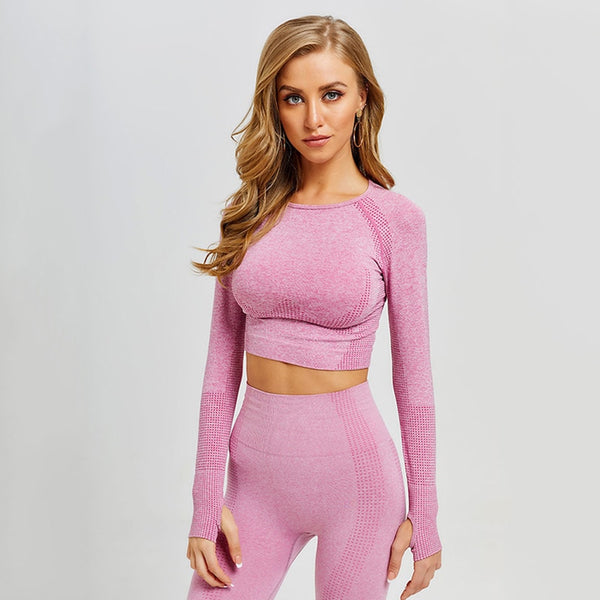 Positive+ Seamless Cropped Workout Set