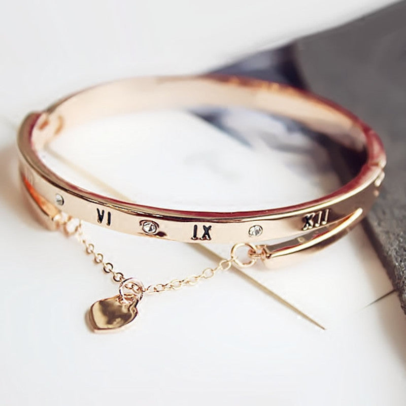 Luxury Rose Gold Stainless Steel Bracelet