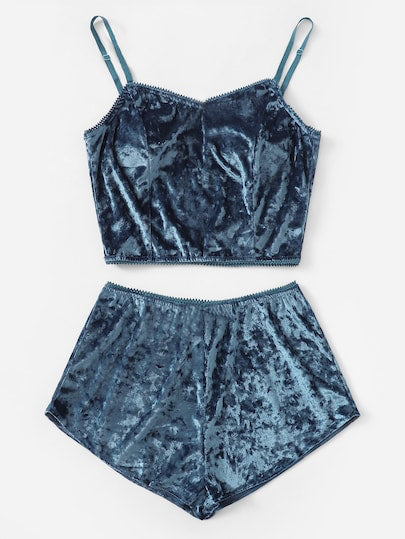 Two Piece Velvet Pajama Set