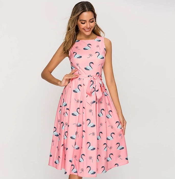 Flamingo Sleeveless Dress