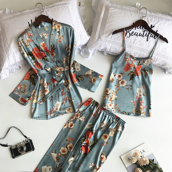 3 PCS Women Pajamas Set