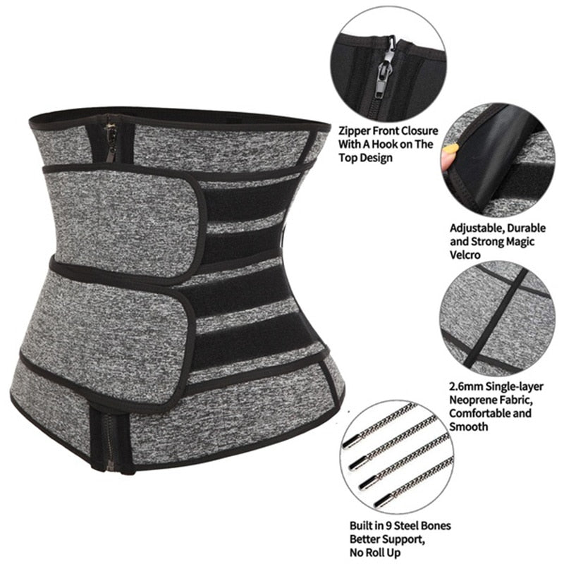 Double Belt Neoprene Sauna Waist Trainer