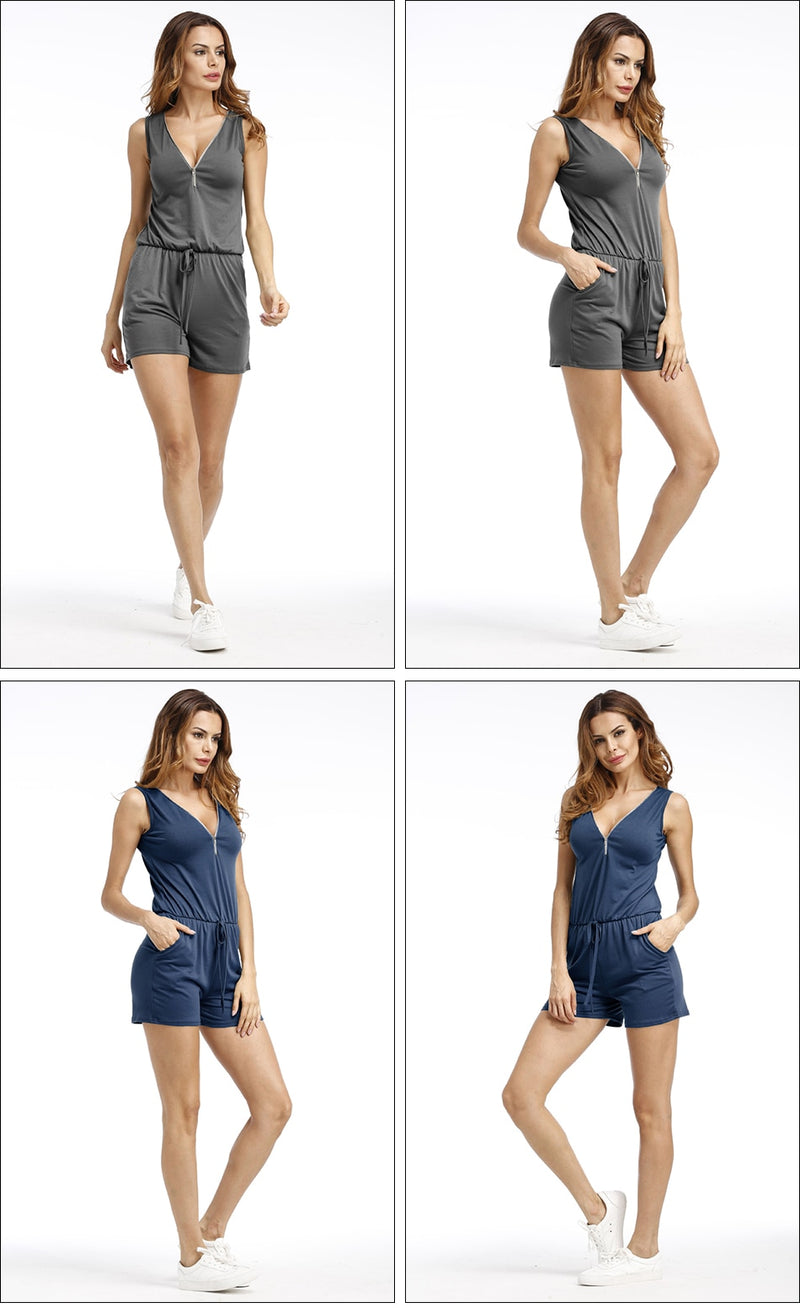 Casual Jumpsuit shorts -Likabee,  - Women's Swimwear, [Shop_name] - Likabee.com
