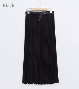 Tamara Long Pleated Skirts Chiffon Elastic Waist -Likabee,  - Women's Swimwear, [Shop_name] - Likabee.com