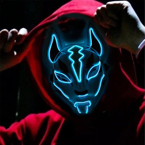 HOT Drift Fortnite Fox LED Light Up Mask