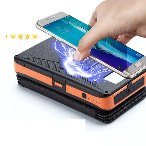 Image of Portable Solar Battery Power Bank with Lamp