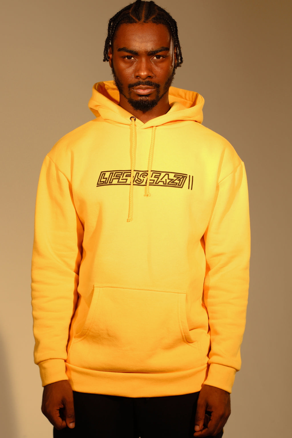 YELLOW HOODY - LIFE IS EAZI