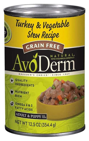 AvoDerm Grain Free Turkey and Vegetable Stew Canned Dog Food