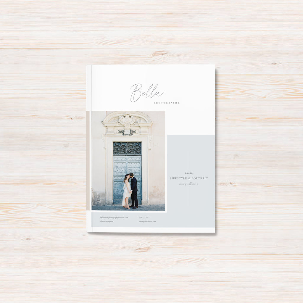 Pricing Guide Template For Photographers | Bella